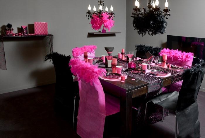 deco table. Black Bedroom Furniture Sets. Home Design Ideas